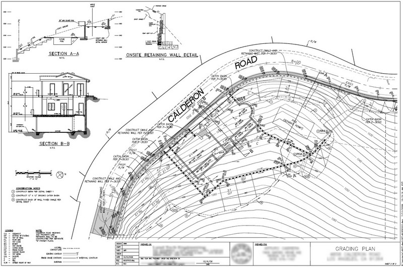 Grading Plans Tranquility Computers – Site Plan Example
