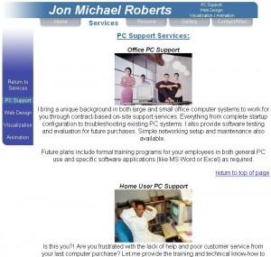 Jon Michael Roberts Personal Page
